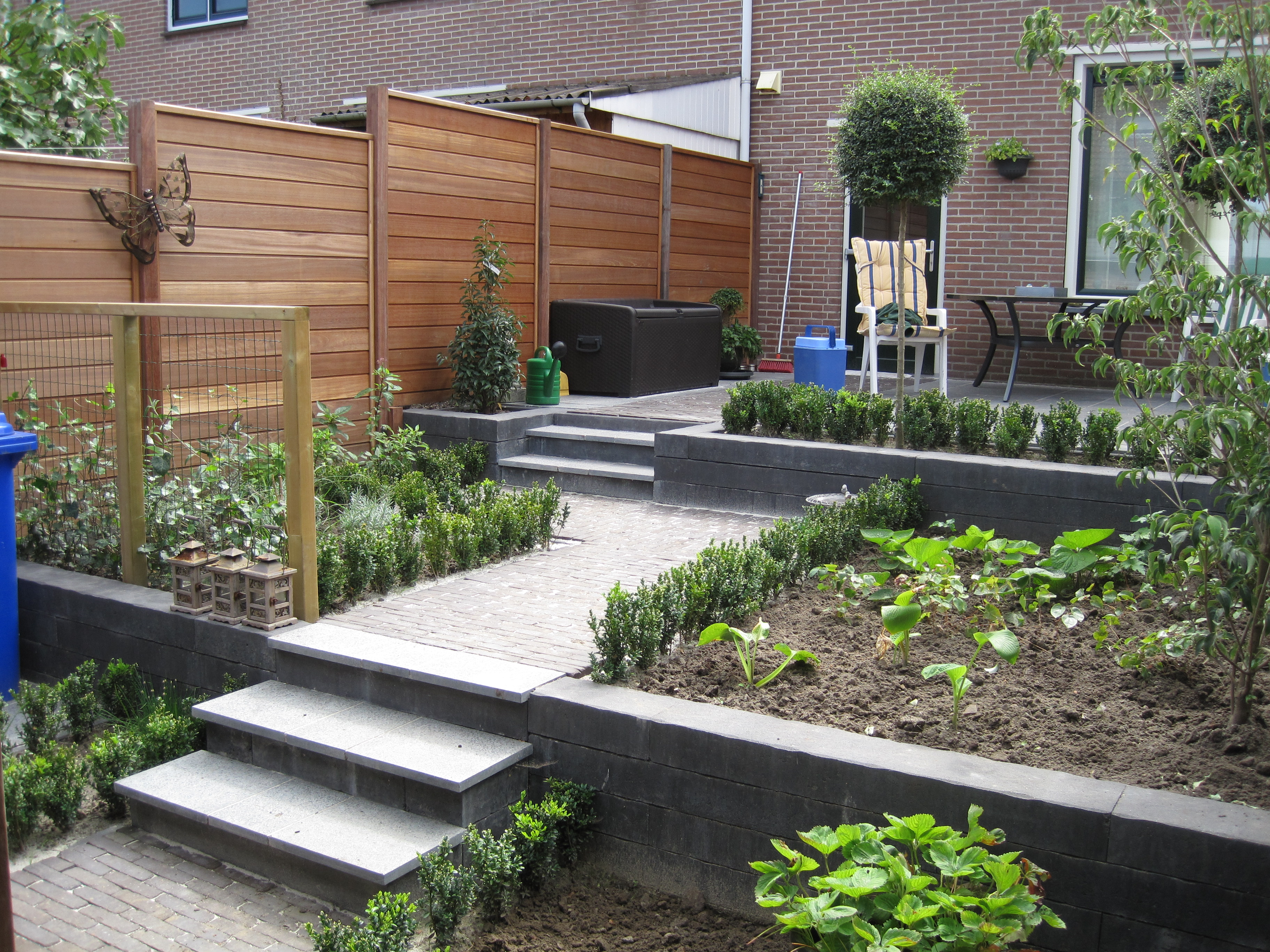Tuin door hovenier in Friesland